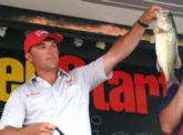 Pro Rodney Brown of Eddyville, Ky., finished fifth with a two-day total of 29 pounds, 4 ounces.