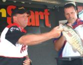 Pro Scott Emery of Livonia, Mich., finished third with a two-day total of 33 pounds, 9 ounces.