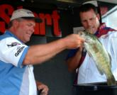 Pro David Reault of Livonia, Mich., finished fifth with a two-day total of 29 pounds, 2 ounces.