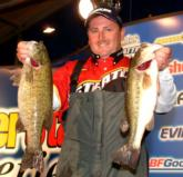 Pro Ramie Colson of Cadiz, Ky., is in second place with 12 pounds, 5 ounces.