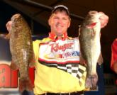 Pete Gluszek of Franklinville, N.J., weighed in just three bass today, but placed third in the Pro Division with 12 pounds, 3 ounces.