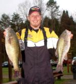 Earl Dalton of Jackson, Calif., took the early co-angler lead with two bass weighing 8 pounds even.