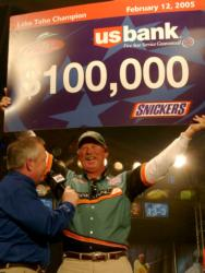 Veteran pro Tom Mann Jr. of Buford, Ga., earned $100,000 with a two-day total of eight bass weighing 16 pounds, 2 ounces at FLW Lake Toho.