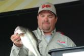 David Curtis weighs in one of his bass on day four of the EverStart Central opener.