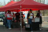 The top 10 pros at the EverStart Central opener on Sam Rayburn wait in line before weighing their fish.