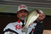 Will Dupler holds up one of his three bass on day four at the Columbus Pool
