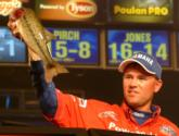 Clifford Pirch of Payson, Ariz., who led the opening round, finished in fourth place and collected $40,000 with a final-round total of 19 pounds, 15 ounces. Saturday, he caught a limit weighing 8-13.