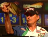Alvin Shaw landed the win with a two-day, final-round total of 10 bass weighing 24 pounds, 8 ounces. He was the only pro to catch a five-bass limit Saturday.