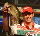 Taking second place was 21-year-old FLW Tour rookie Michael Bennett of Roseville, Calif. He caught three bass Saturday - weighing 9 pounds, 1 ounce - and finished with a final weight of 24 pounds, 4 ounces.