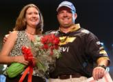 Wade Ramsey poses with his wife of three weeks, Candace.