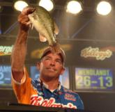 Clark Wendlandt earned $100,000 for finishing second with a final-round total of 10 bass weighing 30 pounds, 5 ounces.