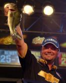 Greg Hackney caught 16 pounds, 15 ounces in Saturday's finals - the day's biggest sack - and finished the tournament in fourth place.