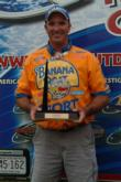 Kevin Vida poses with his Detroit River trophy.
