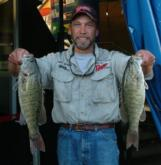 Michigan pro Mike Webber ended day one in the fifth spot with a limit weighing 12 pounds.