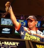 Third-place pro  Keith Pace of Monticello, Ark., caught an 8-pound, 6-ounce limit Saturday and finished the finals with 25 pounds, 11 ounces.
