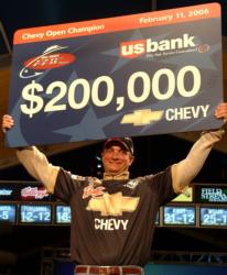 Anthony Gagliardi of Prosperity, S.C., cleared $200,000 for victory at the 2006 Chevy Open.