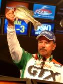 Fith-place Darrel Robertson of Jay, Okla., caught 9 pounds, 5 ounces Saturday and totaled 12-3 in the final round.