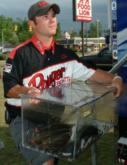 Pro Kip Carter of Oxford, Ga., finished fourth with a two-day total of 26 pounds,  2 ounces.