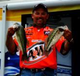Chris McCall caught 11 pounds, 4 ounces on day four to finish the Stren Series event on Lake Texoma in second place.