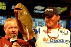 Fourth-place pro Scott Martin of Clewiston, Fla., caught 10 bass weighing 30-9 in the finals at Lake Champlain.