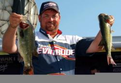 Dan Morehead's winning two-day weight was 29 pounds, 10 ounces. He caught Saturday