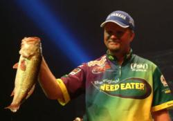 Ray Scheide took second place and $50,000 with a five-bass, 14-pound, 6-ounce catch.