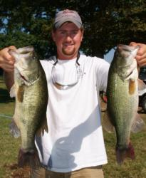 Pro Matt Arey of Shelby, N.C., caught a limit weighing 16 pounds, 2 ounces and placed third Wednesday.