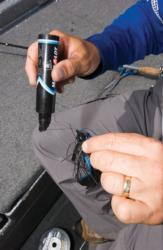 FLW Tour pro Jay Yelas often colors his braided line to give it a camo appearance.