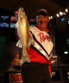 Tom Brunz moved up to third place after catching an 8-pound, 13-ounce limit on day four.