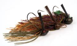 Football-head jigs come in a various colors and styles, but the basic shape is the same. Most anglers use jigs in the 1/2- to 1-ounce range.