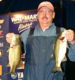Thomas Szwankowski of Hope, Ark., leads the Co-Angler Division of the Stren Series Championship with 12-7.