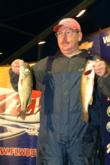 Co-angler Tommy Szwankowski of Hope, Ark., still leads the Co-angler Division with a two-day total of 18-10.