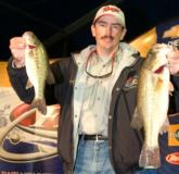 Pro Ricky Scott of Van Buren, Ark., is in third place with a two-day total of 23-3.