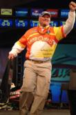 Sam Bass displays some of his exuberant personality on day four. He finished 10th with a two-day catch of 5-15.