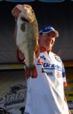 Chad Grigsby of Maple Grove, Minn., stuns the weigh-in crowd with an 8-1/2-pound Okeechobee monster. Grigsby finished second with a four-day total of 57 pounds, 13 ounces.