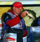 Pro Mike Menne of Redding finished fourth with a four-day total of 42 pounds, 3 ounces. He caught a limit weighing 9-4 Saturday.