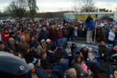 A great crowd braved chilly temps Saturday afternoon to watch the tightly contested final weigh-in in Redding.
