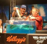 Pro Ron Shuffield finished the final round on Lake Travis with seven bass that weighed 13 pounds, 8 ounces.