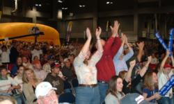 A standing-room-only crowd was in attendance for the day-four weigh-in at the Austin Convention Center.
