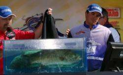 Pro Justin Kerr of Simi Valley, Calif., grabbed his second runner-up finish at the Delta with a four-day total of 83 pounds, 3 ounces. His limit Saturday - 20 pounds, 7 ounces - was the second-heaviest of the day.