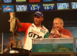 David Dudley earned $50,000 for his second-place finish on the Potomac River.