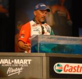 Castrol pro Darrel Robertson of Jay, Okla., sits in the fourth place position with 5 pounds, 14 ounces.