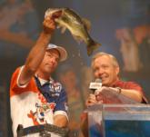 Kellogg's pro Clark Wendlandt of Leander, Texas finished in third place with a two-day total of 10 pounds, 1 ounce for $75,000.