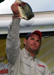Pro Thomas LaVictoire caught three bass Saturday weighing 8 pounds, 4 ounces and finished second with a four-day total of 27-11.