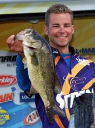 Pro David Butenewicz Jr. caught the biggest bass of the week, this 5 1/2-pound largemouth, and took sixth with 23-15 total.
