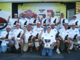 The Delaware state team, pictured here, caught the most bass over three days of competition, earning their team No. 1 status and the tournament