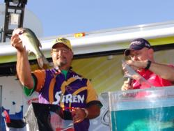 Doug Jones fished inside a creek the entire tournament and pulled out a second-place finish.