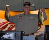 Co-angler Chuck Loerzel of Yorkville, Ill., is tied for the Stren Series Championship lead after day one with 7 pounds, 8 ounces.