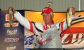 Ray Peace finished the opening round second among the co-anglers with a two-day total of 11 pounds, 15 ounces.