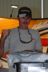 Mike Jackson of San Mateo, Fla., moved up a couple spots to third place today with a two-day total of 18 pounds, 13 ounces.